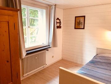 Schlafzimmer mit Blick zum Südwall