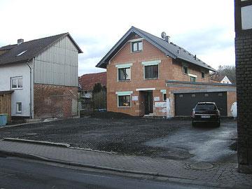 Ansicht des Neubaus im Februar 2012