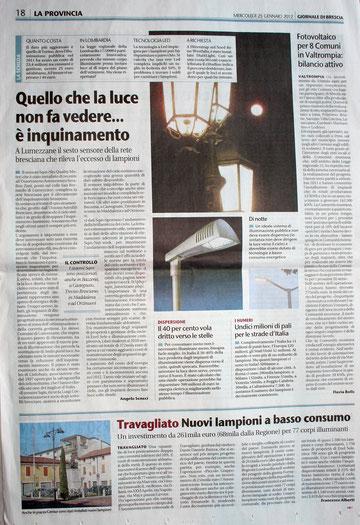 Mercoledi 25 gennaio 2012 Giornale di Brescia