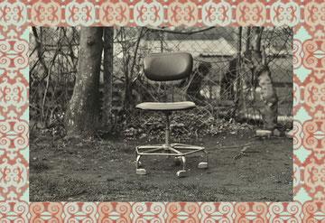 """Fremdkörper, Detail aus """"Bine atvenit - Gut, dass du da bist"""", Collage, 2011"""