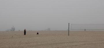 Santa Monica in der Nebelsuppe