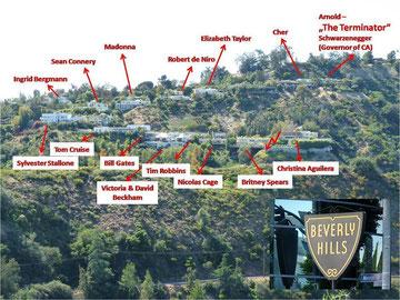 Wo Wohnen Die Stars In Hollywood Karte