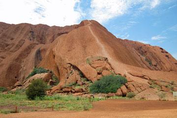 Weg auf den Uluru