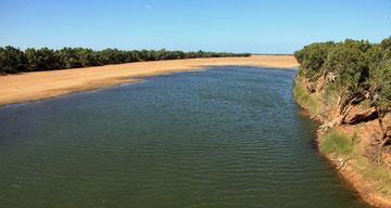Gascoyne River bei Carnavon, fast ausgetrocknet