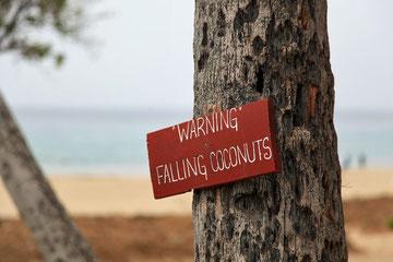 ...nicht ganz ungefährlich, dieser Beach....