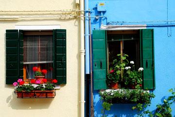 Fassade auf Burano
