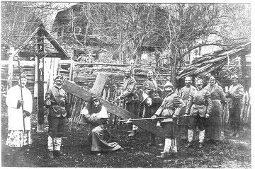 "Die Tresdorfer ""Kreizziacha"" - Foto um 1900"