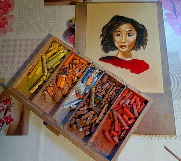 Pastel de l'artiste Virginie Roca qui propose des ateliers pour tous publics