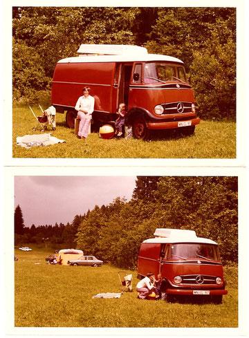 Der rote Uri, 1972-1975 – in der Tür sitzend: Steffi
