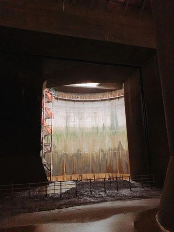 地下神殿から見える立坑の一部