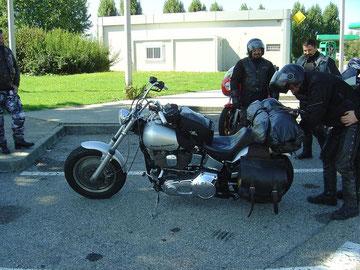 En vieillisant il s'assagit et commence à rouler avec des motos de plus en plus modernes