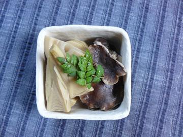 平良の椎茸、タケノコ、木の芽