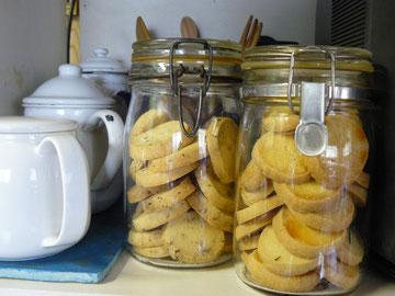 バターたっぷりのクッキー