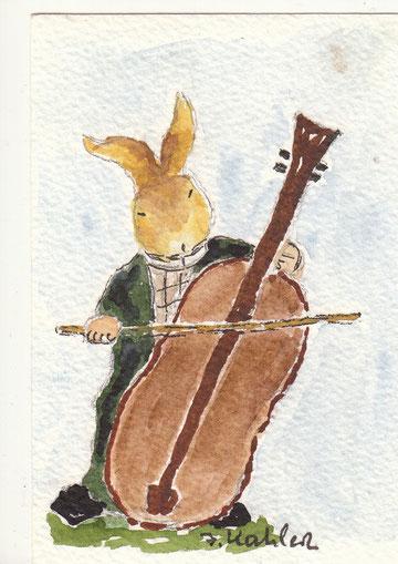 musizierender Osterhase