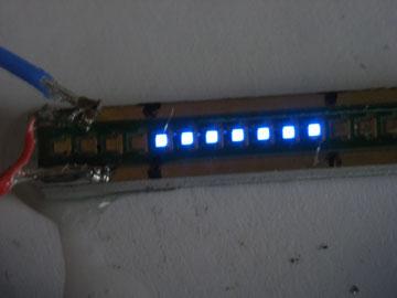 Blaue LED auf Al-Leiterplatte