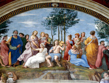 """Raffaello """"Il Parnaso"""" - Musei Vaticani"""