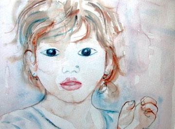 Candide, aquarelle.D.Petit