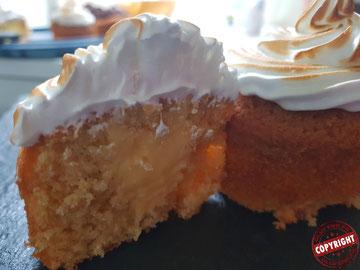 cupcake façon tarte au citron sans gluten sans lactose