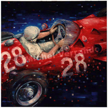 art automobile stirling mossautomotive  art f1 painting art automobile maserati 250f grand prix monaco