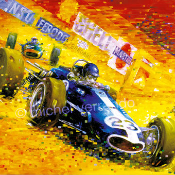 art automobile dan gurney eagle automotive art f1 painting art automobile  grand prix monaco