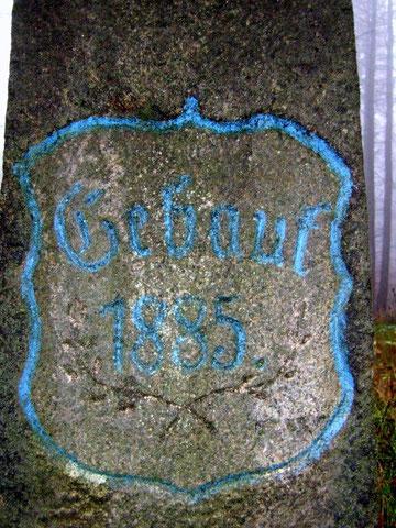 Inschrift - Stein am Roten Sandweg