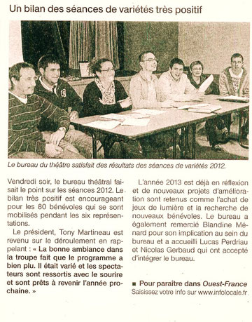 Ouest France - Avril 2012