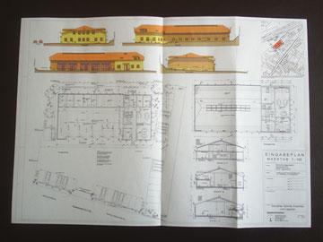 Bauplan des neuen Feuerwehrhauses                  Den Neubau begleitet das Architekturbüro Georg Lorenz aus Deggendorf