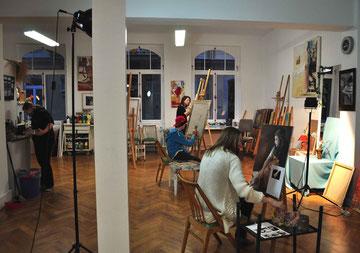 Kunstlehrgänge für Kinder und Jugendliche,  Kunst für Kinder und Jugendliche Malerei, Zeichnung, Plastisches Gestaltung