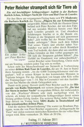 Zeitungsbericht-Weststeirische RUNDSCHAU