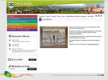 Site de la ville Barr - Rue des Arts - mai et juillet 2011