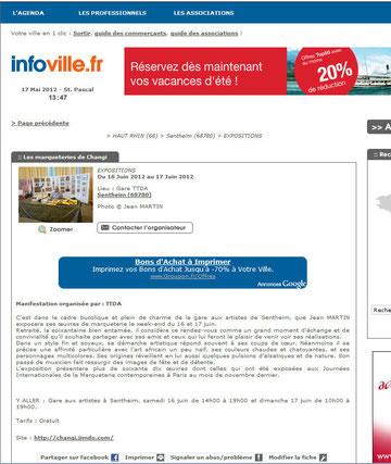 Infovile Gare aux artistes Sentheim
