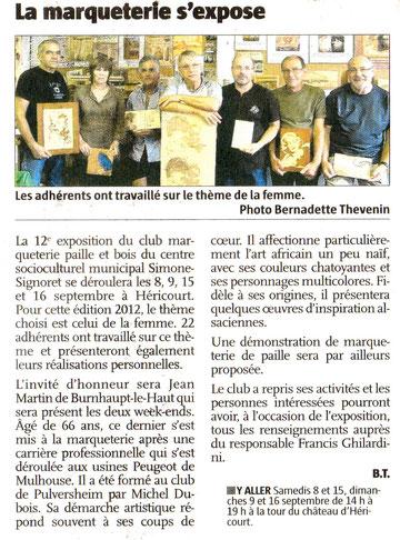 Le Pays 6/9/2012 Expo Héricourt