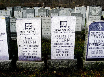 Die Gräber von Markus (Max) und Kätchen Stern in New York