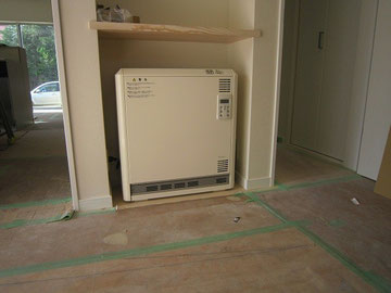 ホール蓄暖設置