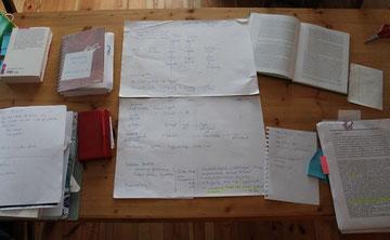Papierkram auf Tisch
