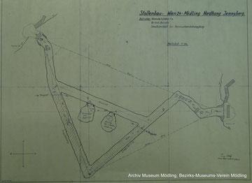 Plan zur Erweiterung des Stollen
