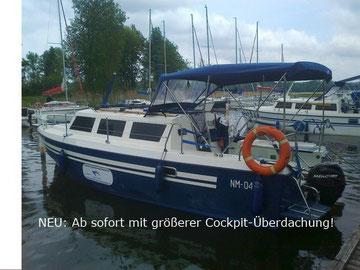 Hausboot WEEKEND 820 STANDARD | 6 Kojen, 1 kleine Bugkabine | ohne Führerschein