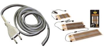 Cable y manta calefactora.