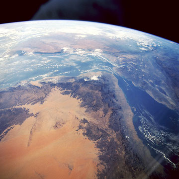 Yemen in the southwest of the Arabian Peninsula. This spectacular scene was acquired by ISS, NASA. ©NASA-JSC.