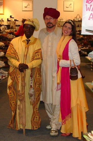 Zu Gast König von Haboe Ghana und Anne Rubin
