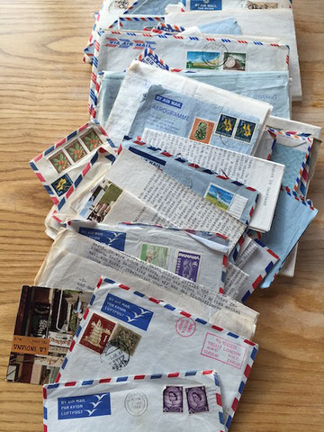 alte Briefe Luftpost old letters airmail