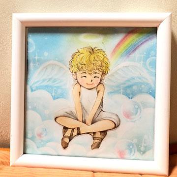 アトリエ絵くぼ 天使 パステル&色鉛筆画