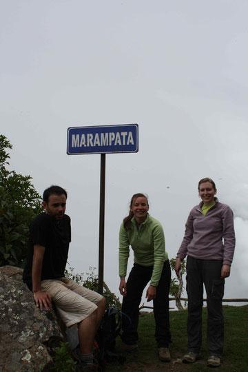 Marampata, fin de la première difficulté du trek