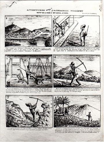 D11 - Le Courrier Illustré, 24 août 1878 : l'immigrant en bande dessinée.
