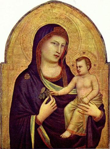 Giotto, Vierge à l'Enfant, peinture sur bois