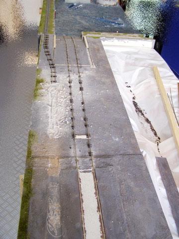 Rampe zur Werft und Werkbahn Spur 0f