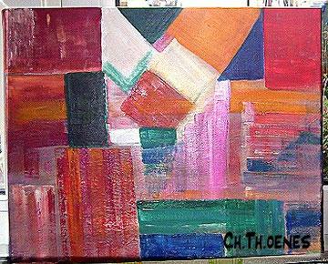 Bild, selbst gemalt, karos, Christel Thoenes