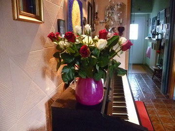 Vase am Klavier