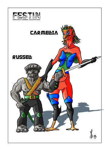 Russel et Carmellia