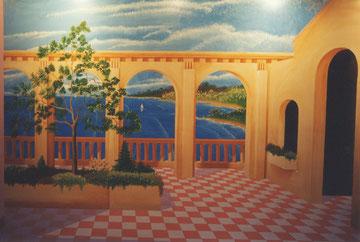 1995 Fresque maison de retraite SUCY EN BRY